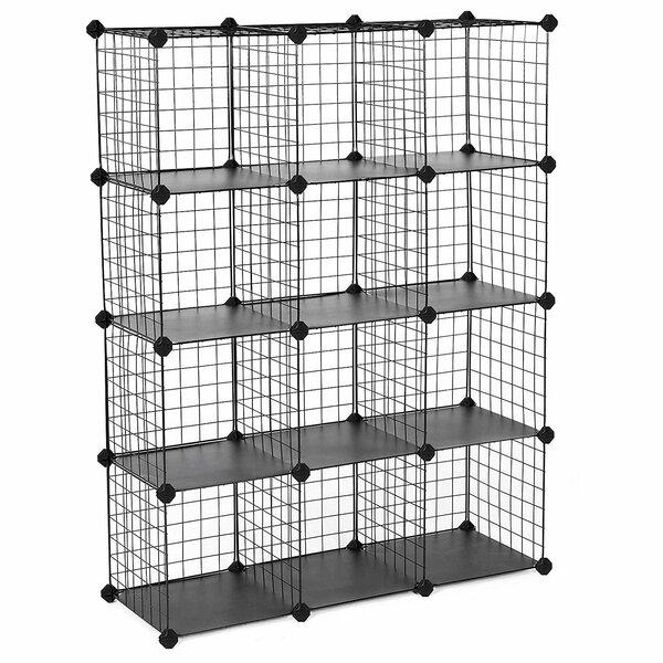 Metal Wire Cube Storage 12 Pair Stackable Shoe Rack