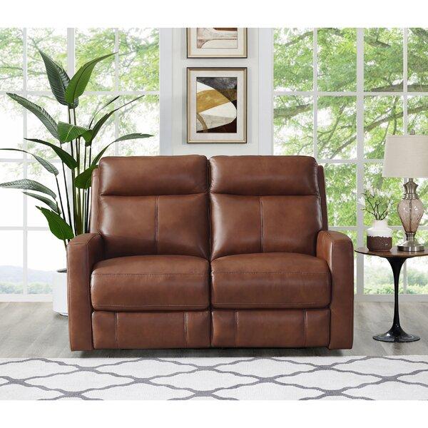 Amasia Leather Reclining Loveseat by Winston Porter Winston Porter