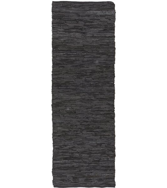 Bardette Hand Woven Black Area Rug by August Grove