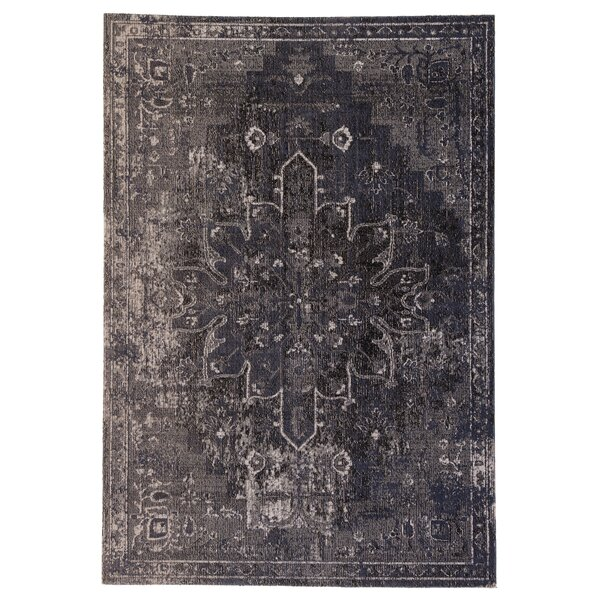 Fauntleroy Medallion Charcoal Indoor/Outdoor Area Rug by World Menagerie