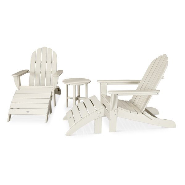 Classic Oversized Curveback Adirondack 5 Piece Seating Group by POLYWOOD®