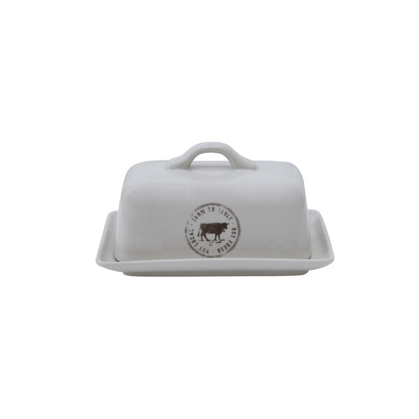 Lingle Stoneware Butter Dish by Laurel Foundry Modern Farmhouse