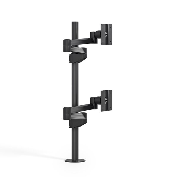 Dual TV and Monitor Articulating Universal Pole Mount for 28 - 32 Flat Panel Screens by Best Mounting