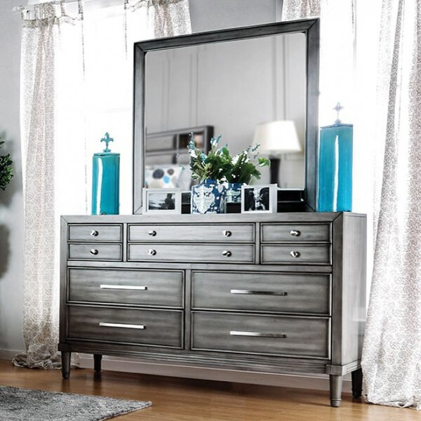 Medau 4 Drawer Double Dresser with Mirror by Brayden Studio
