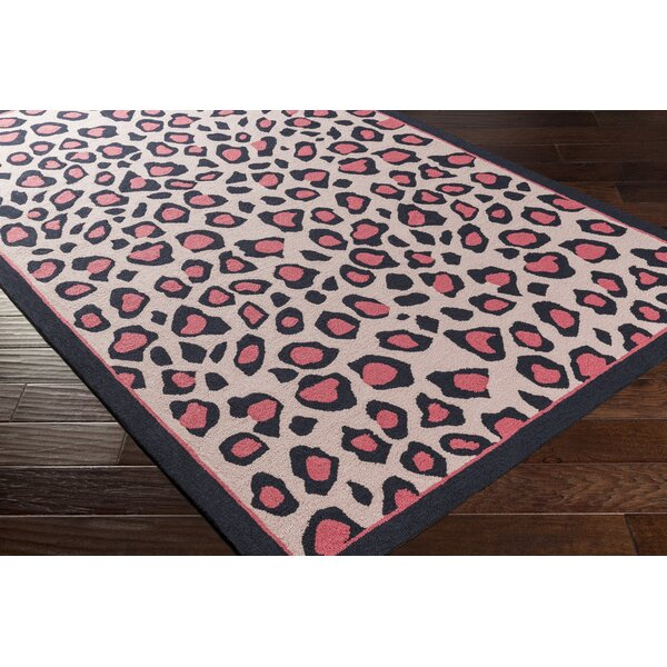 Blake Hand-Hooked Pink Area Rug by Zoomie Kids