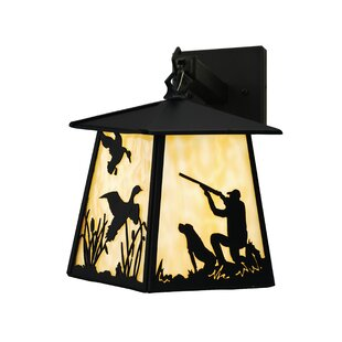 Coupon Duck Hunter Dog 1-Light Outdoor Wall Lantern By Meyda Tiffany