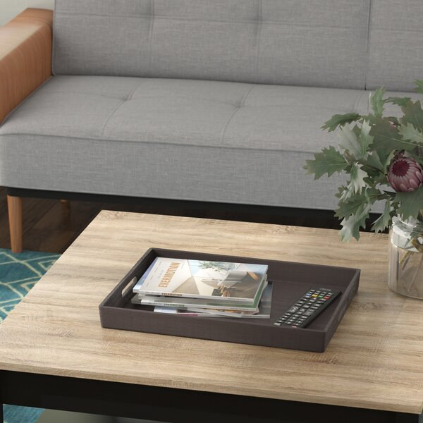 Rectangle Gray Serving Tray by Mercury Row