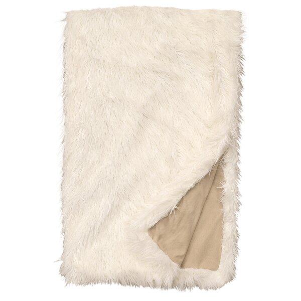 Topsfield Llama Snow Fur Throw by Union Rustic