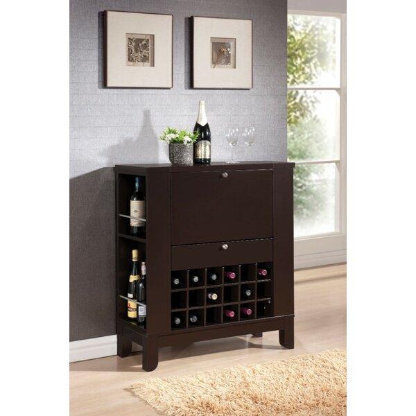Kinnear Wooden Bar with Wine Storage by Winston Porter
