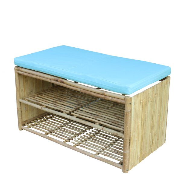 Pyrgos Polyester Storage Bench by Bay Isle Home