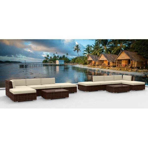 Dana 12 Piece Sectional Set with Cushions Brayden Studio BRAY6290