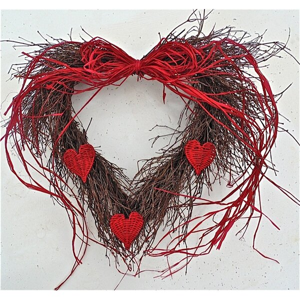 20 Wild Heart Wreath by Dried Flowers and Wreaths LLC