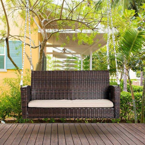 Topsham Hanging Wicker Porch Swing By Ebern Designs