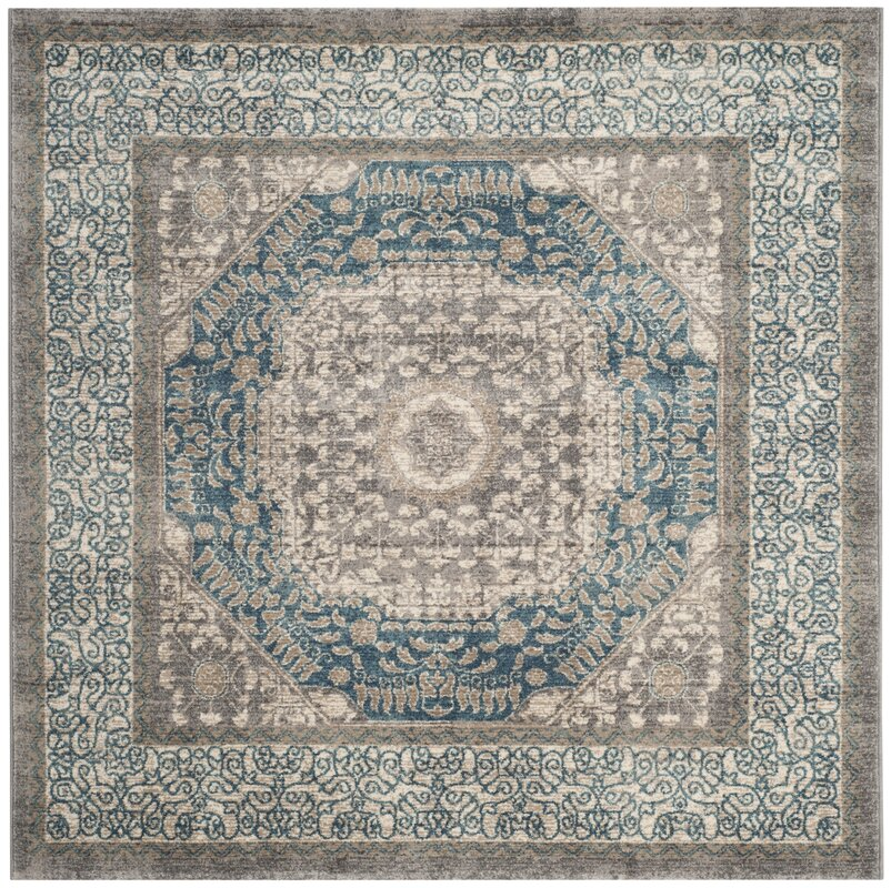 Darby Home Co Sofia Light Gray Blue Area Rug Amp Reviews