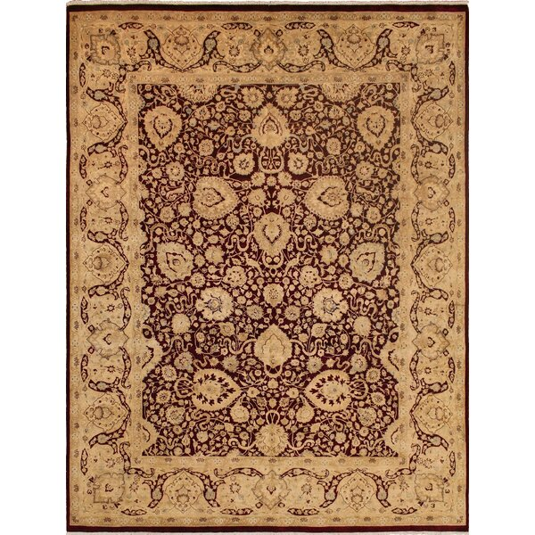 One-of-a-Kind Mickey Hand Knotted Wool Burgundy Area Rug by Isabelline
