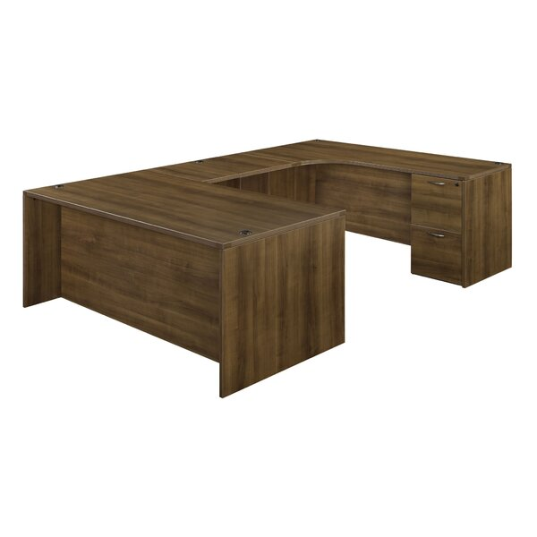 Fairplex Executive Desk with Corner Credenza by Flexsteel Contract