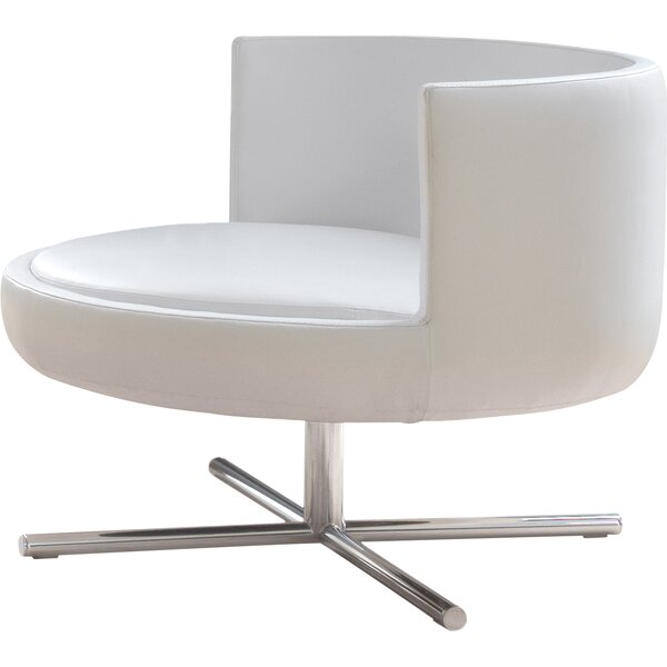 Round Eco Leather Lounge Chair by B&T Design