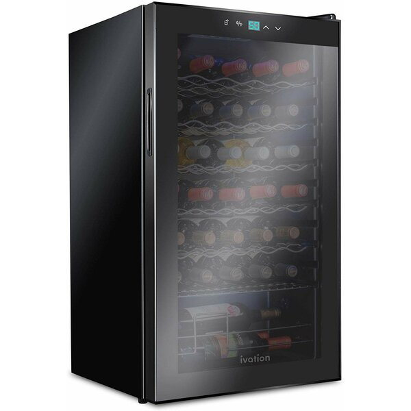 34 Bottle Single Zone Freestanding Wine Refrigerator By Ivation