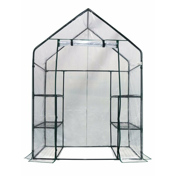 2.42 Ft. W x 4.67 Ft. D Greenhouse by Happy Planter