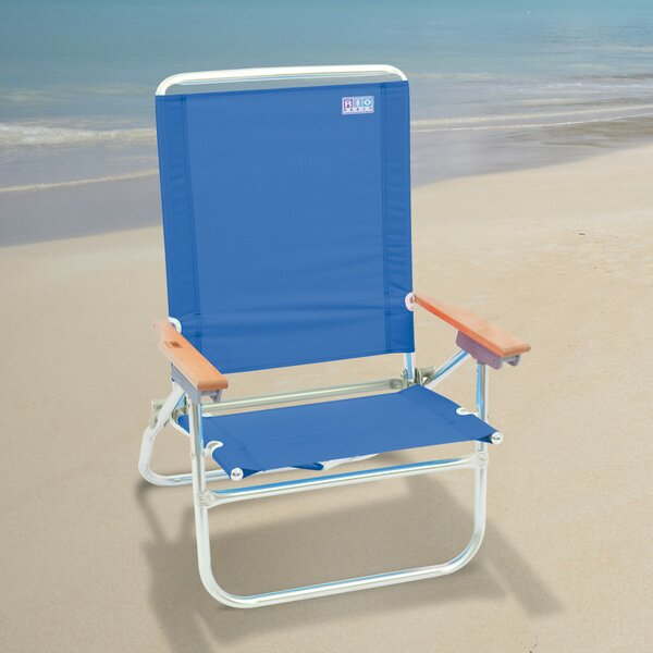 4-Position Easy In-Easy Out Reclining Beach Chair by Rio Brands Rio Brands