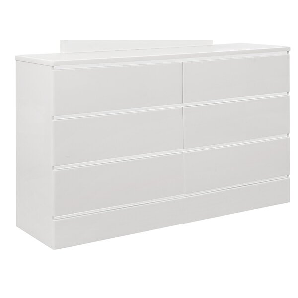 Jaques 6 Drawer Double Dresser by Ebern Designs