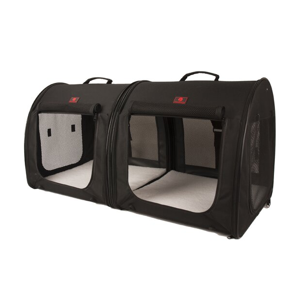 2-in-1 Double Fabric Portable Yard Kennel by Unison