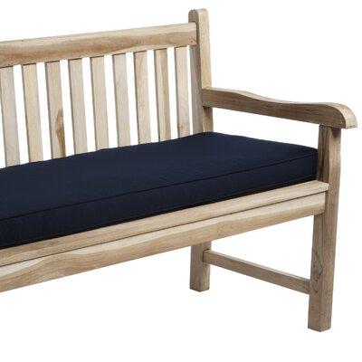"Telleman Indoor/Outdoor Sunbrella Bench Cushion Fabric: Canvas Navy, Size: 60"" W x 19"" D"