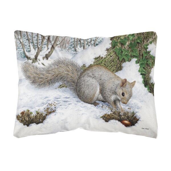 Shumake Squirrel Fabric Indoor/Outdoor Throw Pillow by Winston Porter