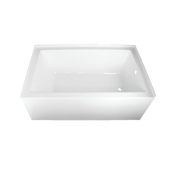 Acrylic 60 x 36 Alcove Soaking Bathtub by Kingston Brass