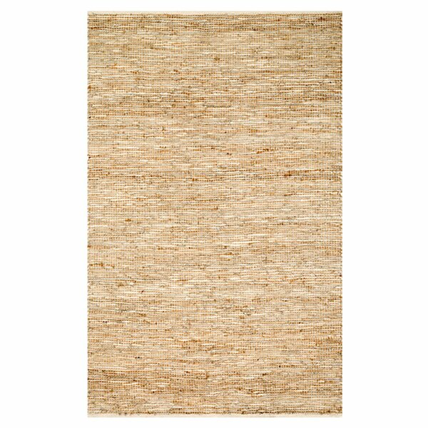 Kirkley Hand-Woven Ivory Area Rug by Charlton Home
