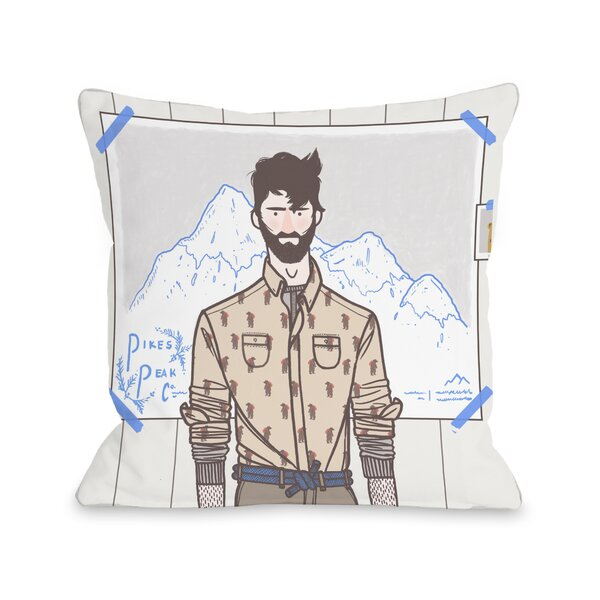Pikes Peak Throw Pillow by One Bella Casa