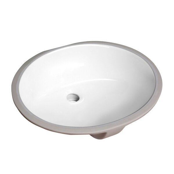 Lanmia Series Vitreous China Circular Undermount Bathroom Sink with Overflow by ANZZI
