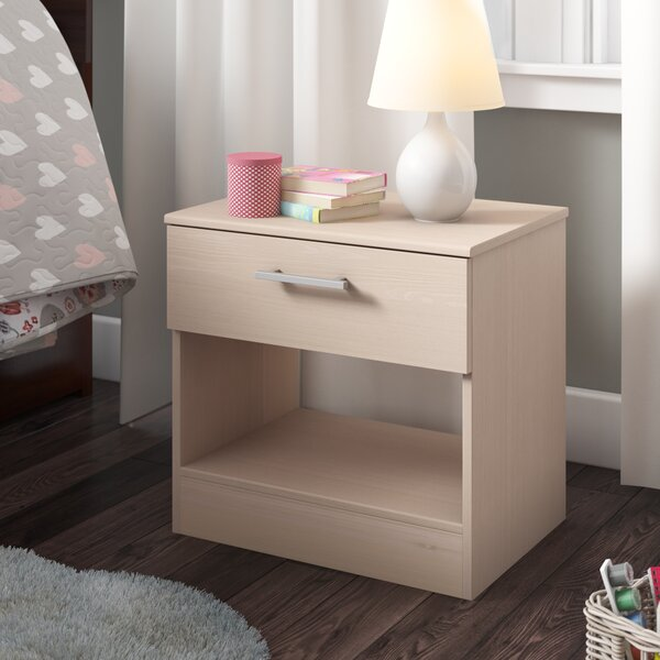 Burnette 1 Drawer Nightstand by Trule Teen