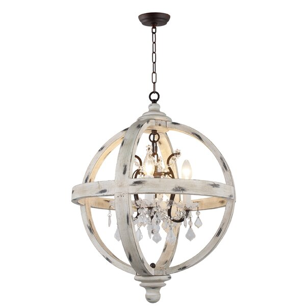 Montecito 4-Light Candle Style Globe Chandelier by Ophelia & Co. Ophelia & Co.