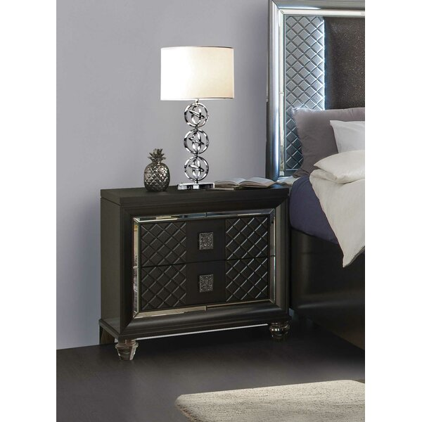 Kaya 2 Drawer Nightstand by Cozzy Design Cozzy Design