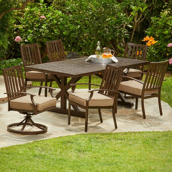 Yandel Bridgeport Heights 7 Piece Dining Set with Cushions