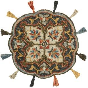 Order Rashida Hand-Hooked Wool Charcoal/Rust Area Rug ByBloomsbury Market