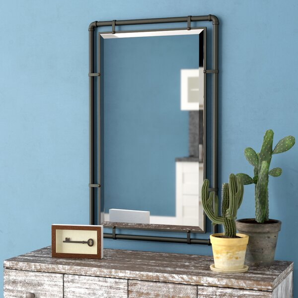 Scottie Industrial Metal Wall Mirror by Williston Forge