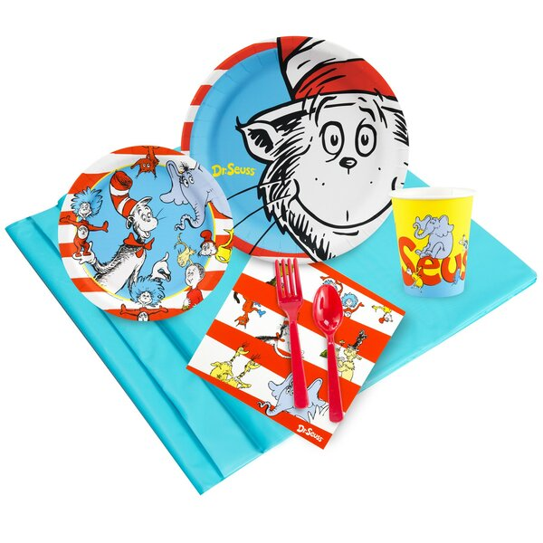 53 Piece Dr. Seuss Paper and Plastic Classics Guest Party Set by NA