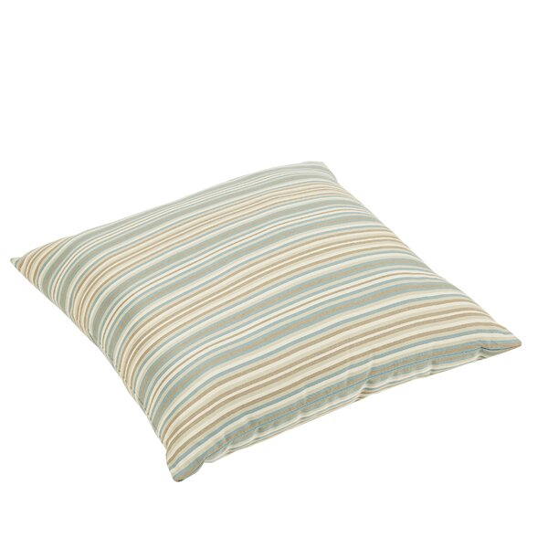 Cavisson Square Sunbrella Gavin Mist Outdoor Floor Pillow by Rosecliff Heights