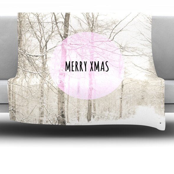 Merry Xmas Fleece Throw Blanket by East Urban Home