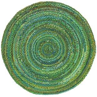 Tiffany Hand Braided Cotton Green Area Rug