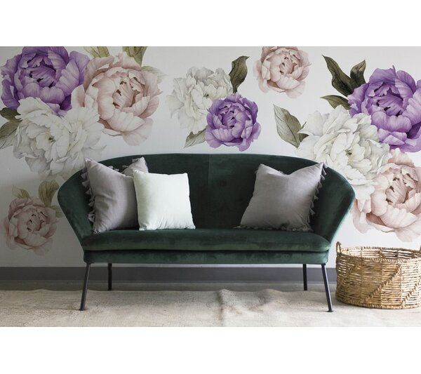 9 Piece Royal Bliss Peonies Wall Decal Set by Urban Walls