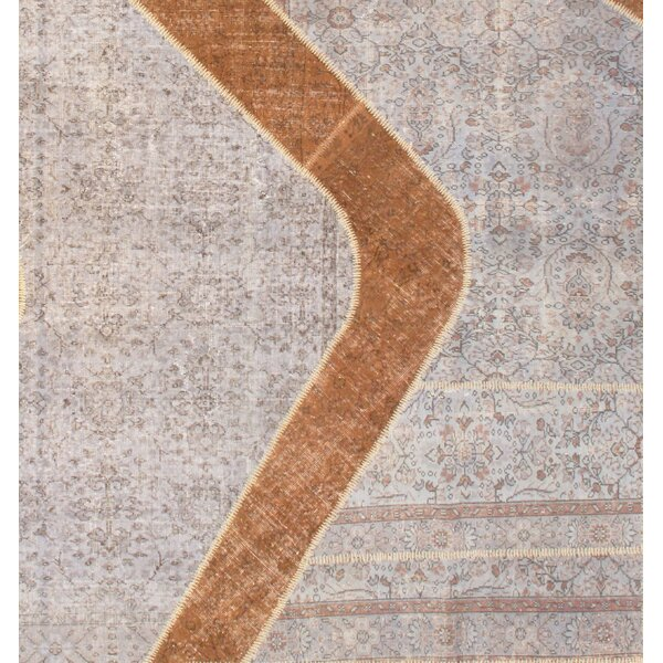 Turkish Hand-Knotted Wool Beige Area Rug by Pasargad NY