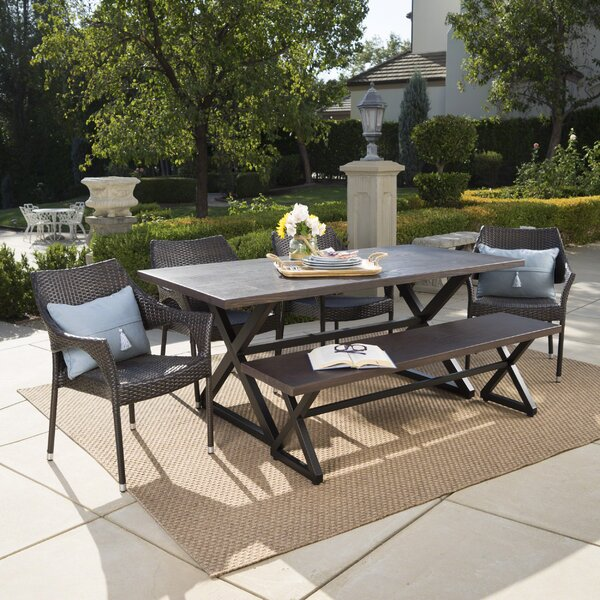 Medway 6 Piece Dining Set By Rosecliff Heights