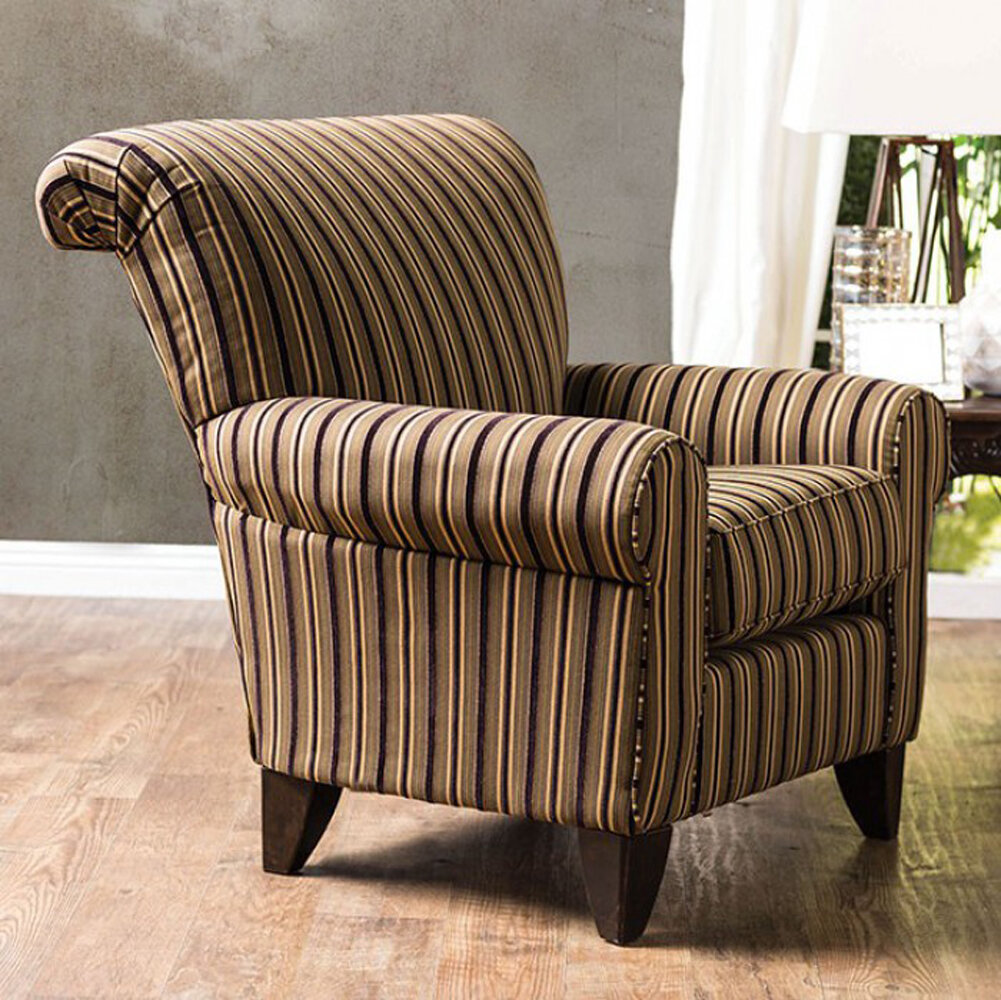 Etonnant Fleur De Lis Living Dahlen Stripes Wingback Chair | Wayfair