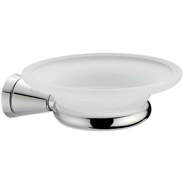 Sklar Wall Mounted Frosted Glass Soap Dish by Orren Ellis