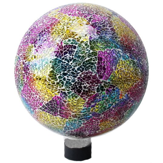 Neon Mosaic Glass Gazing Globe by VCS