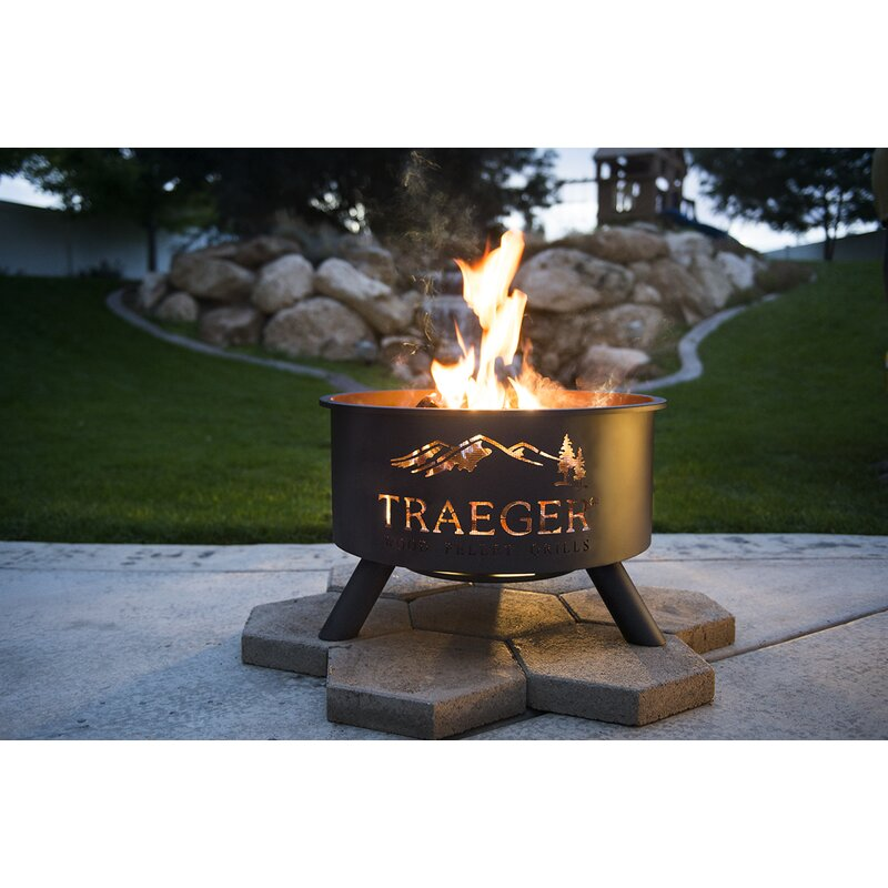 Steel Wood Burning Fire Pit - Traeger Pellet Grills Steel Wood Burning Fire Pit Wayfair