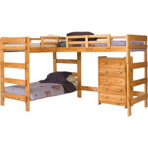Deondre Twin L-Shaped Triple Bed with Drawers
